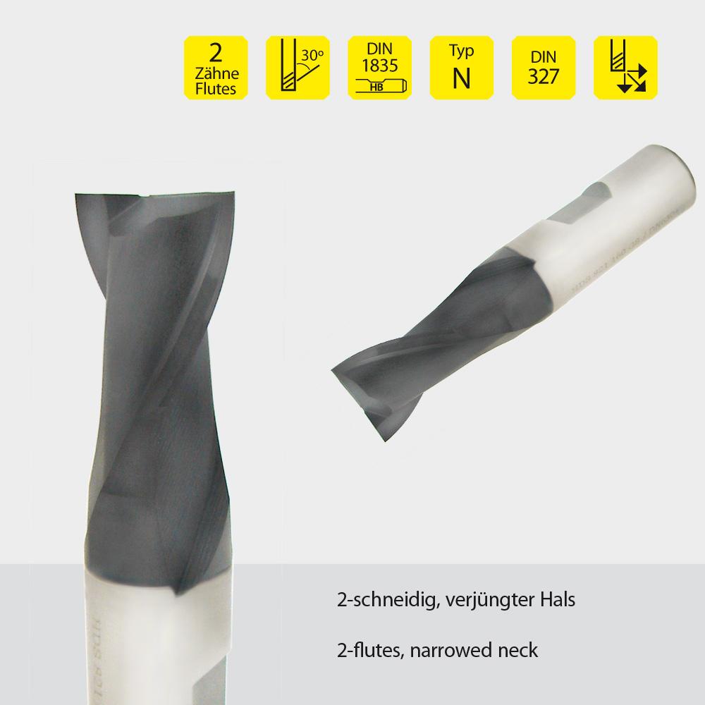 Hardal-HSS-Fräser z=2 Ø 6mm
