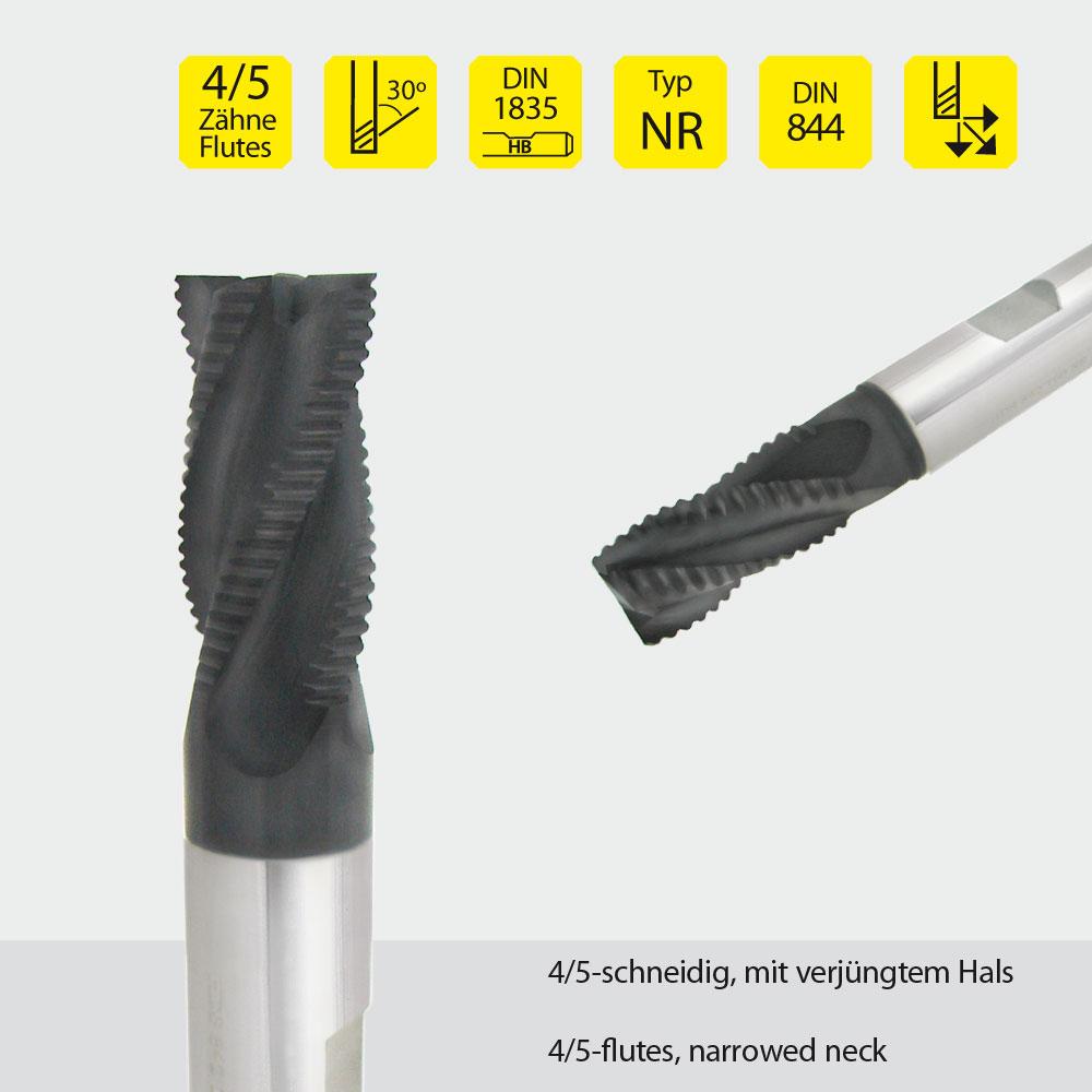 Hardal-HSS-Fräser z=4 Ø 20mm Typ: NR