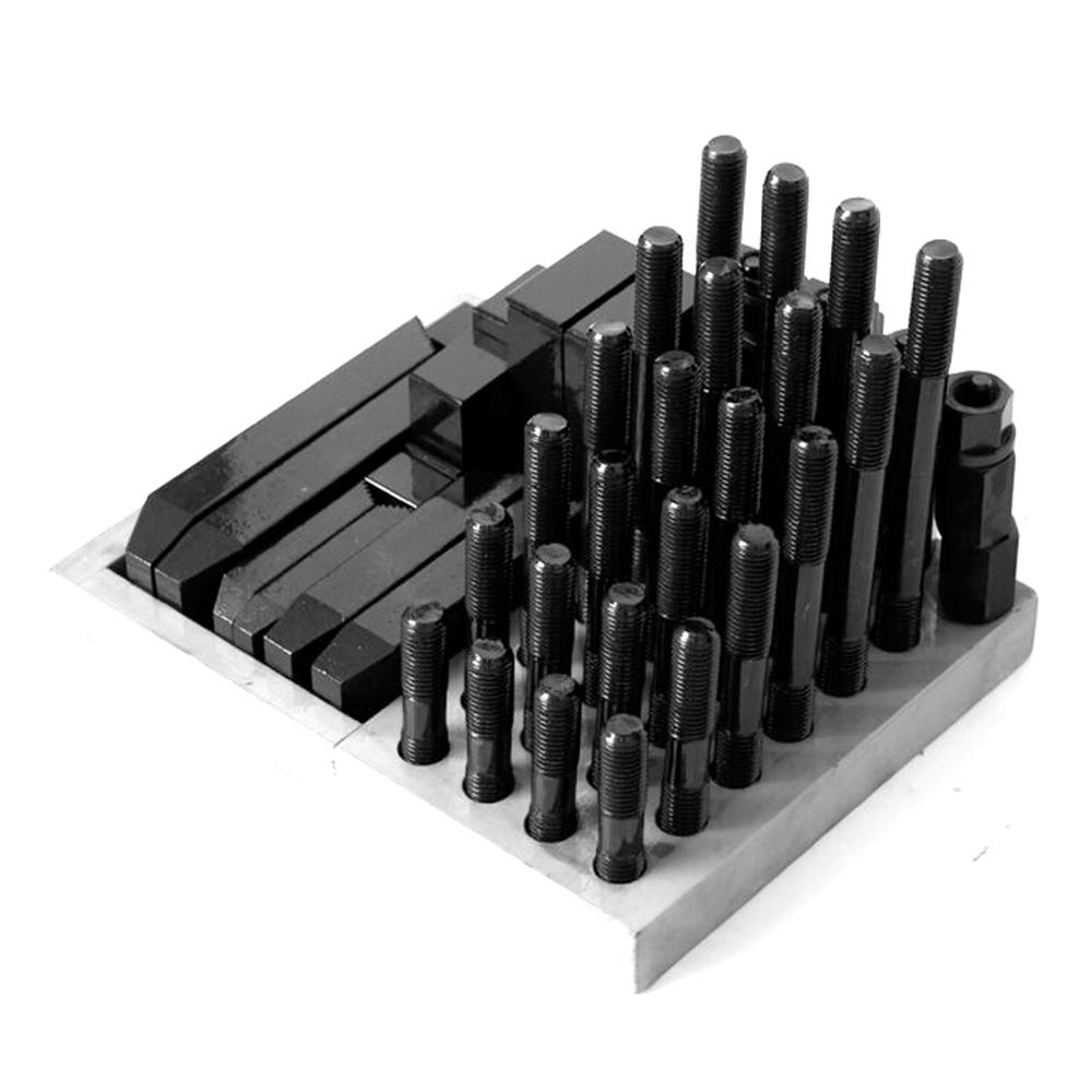 Anzugsgewinde M16 T-Nutengröße 18 mm Fräse 58-teilig Aufspannset