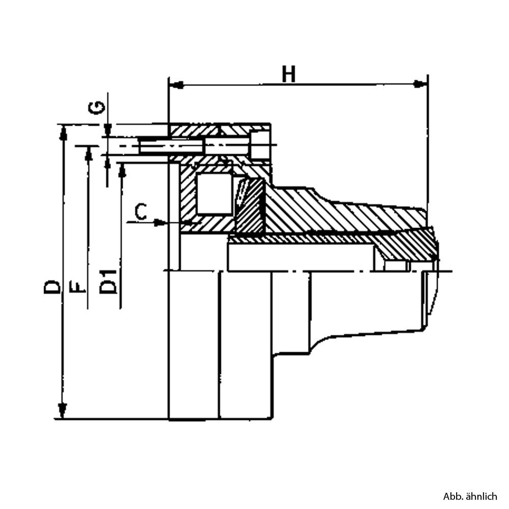 5C Spannzangenfutter Zeichnung