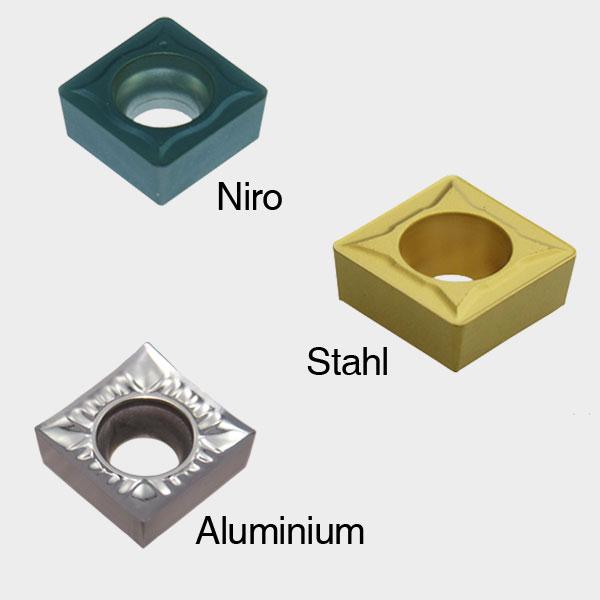 SCGT / SCMT alle Größen für Aluminium Stahl Niro NEU