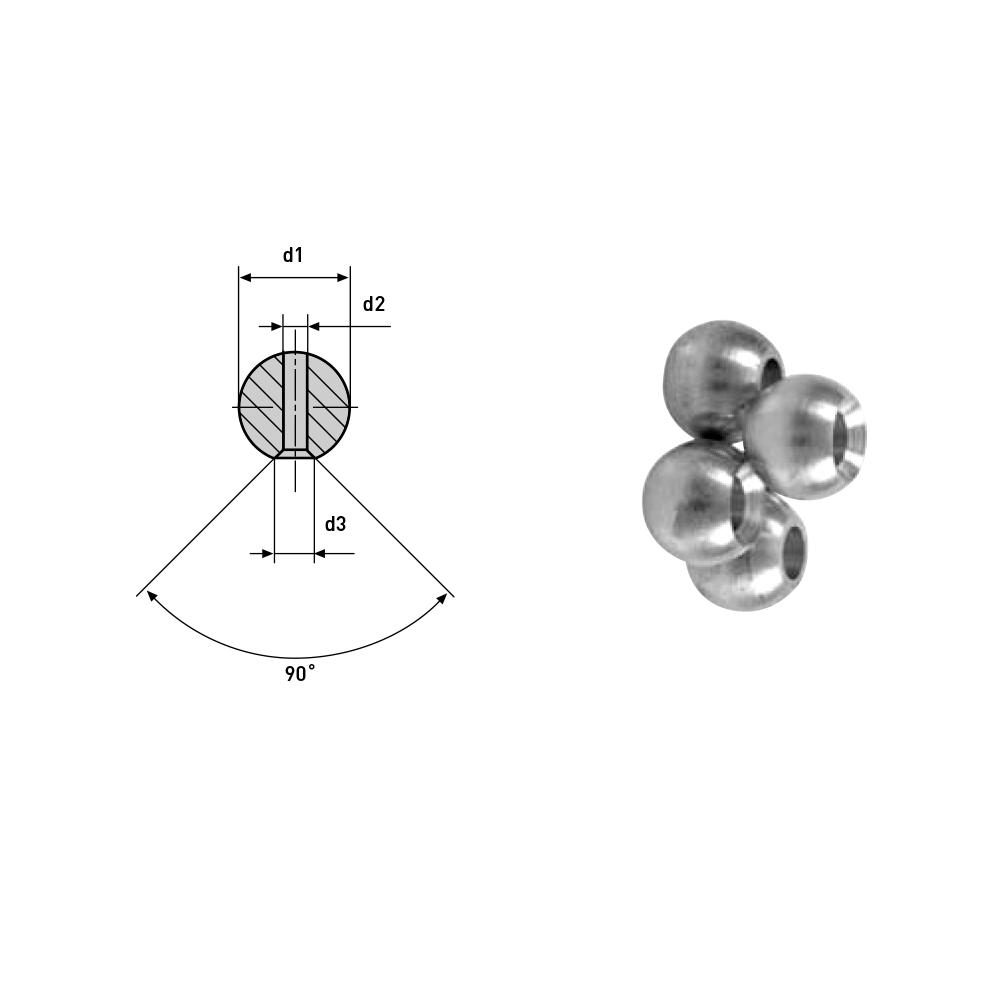 10er Set Kugelspritzdüsen für Werkzeugaufnahmen, Ø 8mm, 10mm, 14mm, VDI Messing