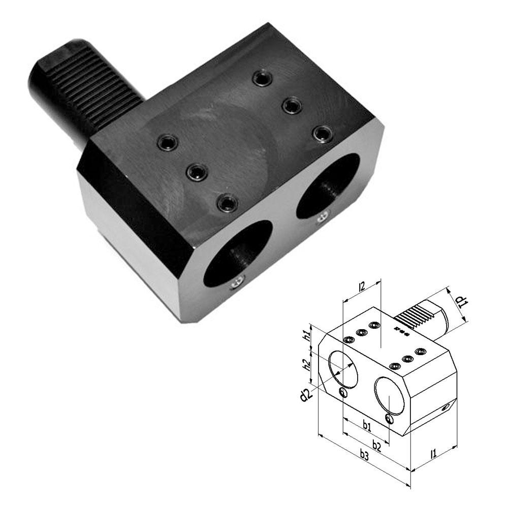 VDI Form E7 Doppel-Bohrstangenhalter, Werkzeughalter